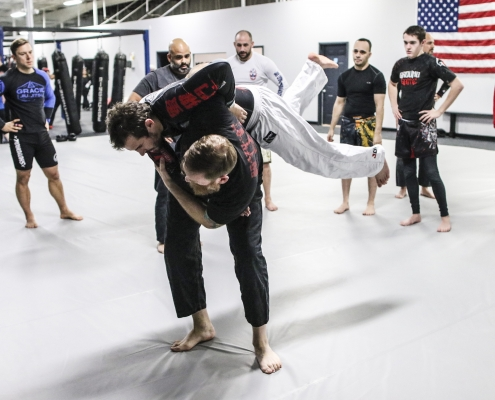 Jiu Jitsu Throw in Martial Arts Class in Cromwell CT